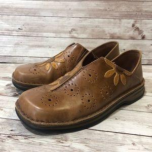 Josef Seibel Leather Flower Loafers